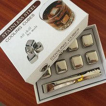 304 Stainless Steel Whiskey Cooler Wine Cooling Stones Ice Cubes Chillers Drink Physical Cooling Tools цена и фото