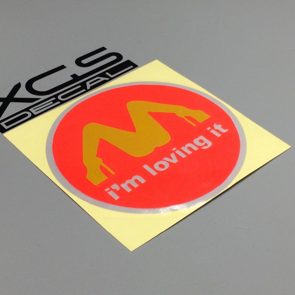 """I/'M Loving It McDonald/'s Funny car bumper sticker window decal 4/"""" x 4/"""""""