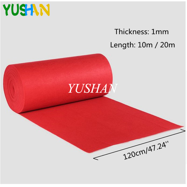 Wedding Aisle Floor Runner Carpet Polyester Large Red Carpet Rug Photo Booth  Events Wedding Party Events Decoration 10m/20m