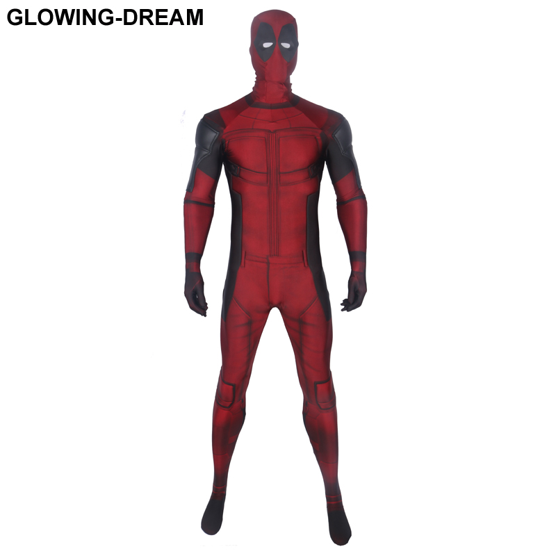 High Quality Relief Muscle Padding Deadpool Cosplay Costume Fullbody Deadpool Zentai Suit