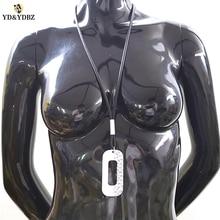YD&YDBZ New Aluminum Sheet Rubber Necklace Womens Necklaces Jewelry Harajuku Gothic Style Fashion Girls Pendant