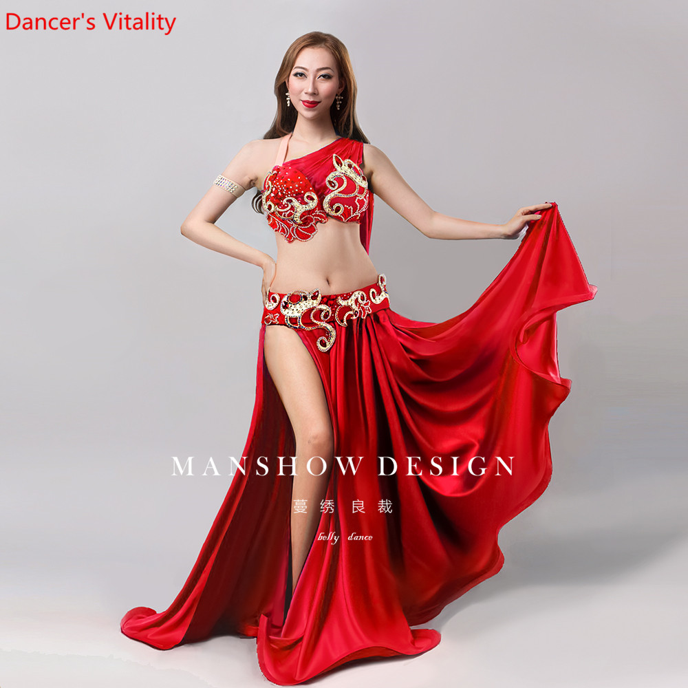 Women Belly Dance Wear Oriental Dance Clothes Upscale Customized Autumn And Winter Conservative Fancy Yarn Sets
