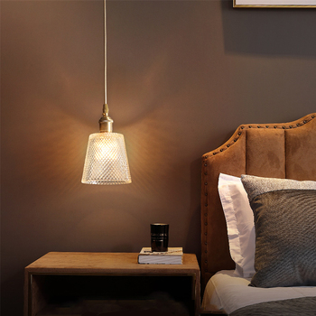 JAXLONG Luxury LED Pendant Lights Loft Style Light Restaurant Simple Bedside Copper Hanging Lamp Balcony Light Fixtures Kitchen
