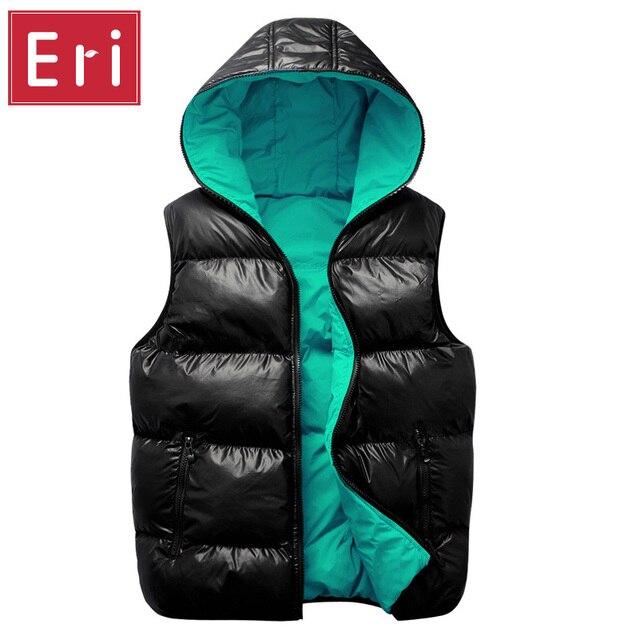 Mens Winter Jacket Sleeveless Veste Homme Fashion Warm Coats Male Hooded Cotton-Padded Men's Thickening Waistcoat 3XL X478