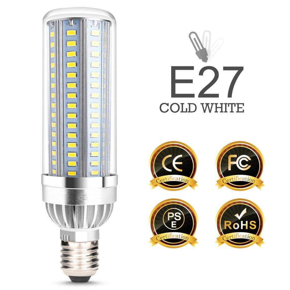 E27 Led Candle Bulb 110v 220v Led Corn Lamp Smd5730 Led Bulb E27 Led Lamp Energy Saving Light For Home Chandelier Lighting