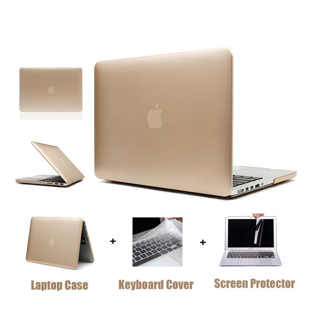 Rose Gold Matte Metal Color Laptop Hard Case for Macbook Air 13 12 11 New Macbook Pro 13 15 With Retina Display Touch Bar Cover
