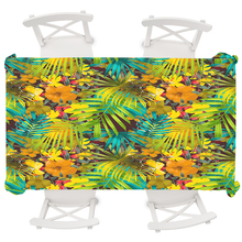 Boho Home Decor Waterproof Tablecloth Tropical Plants Rectangular Table Cloth Wedding Round Tablecloth Cover Oilproof Anti-dirty tropical print tablecloth