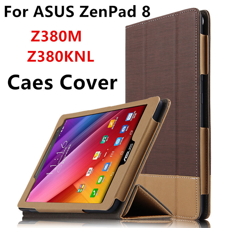 Case For ASUS ZenPad 8.0 Z380M Protective Smart cover Leather Tablet For ASUS ZenPad 8 Z380KNL Z380KL PU Protector Sleeve case чехол asus для планшетов zenpad 8 pad 14 полиуретан поликарбонат белый 90xb015p bsl320
