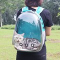 Portable Pet Travel Carrier Backpack Space Capsule Breathable Design 4 Colors Cat-carrying Supplies