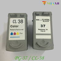 PG 37 CL 38 Ink Cartridge For Canon PG37 CL38 PG 37 PIXMA MP210 IP1800 MP190 IP1900 IP2500 IP2600 MP140 MP220 MX300 MX310