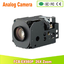 yunsye Free shipping SONY CCTV Sony Camera Zoom Module FCB-EX980P Colour 26x zoom 3.5-91mm
