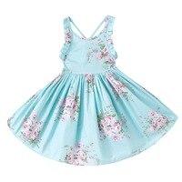2017 New Style Children Kids Cotton Floral Dress Beautiful Girls Vestidos Clothing Teenage School Easter Dress