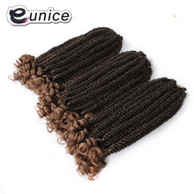 Eunice 12inch Short Spring Twist Synthetic Fiber Hair Extension Crochet Twist