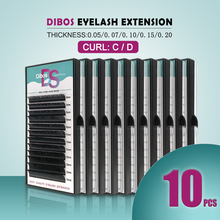 Dibos 10 cases/lot mink eyelash extension individual eyelashes natural materials for
