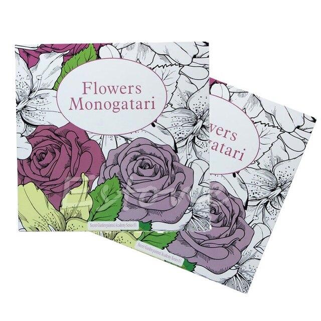 Graffiti Coloring Book SECRET GARDEN Flowers Monogatari For Adults Kids Gift