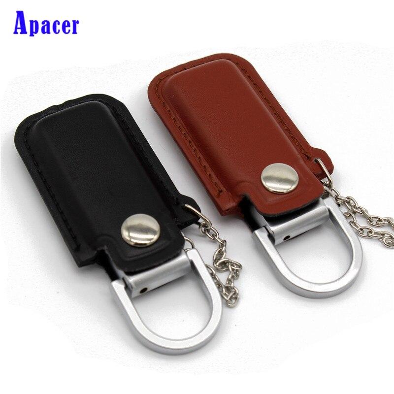 Apacer 64GB Ppendrive Leather Wristband Pendrive 8GB 4GB USB Flash Drive 32GB 16GB Metal stmagic usb flash drive leather metal keyring pendrive creativo usb 2 0 32gb 16gb 8gb 4gb