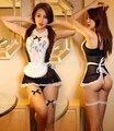 Lencería Sexy ropa interior atractiva encantadora dama para mujer de encaje clásico minifalda Sexy lolita traje de sirvienta Sexy disfraces eróticos
