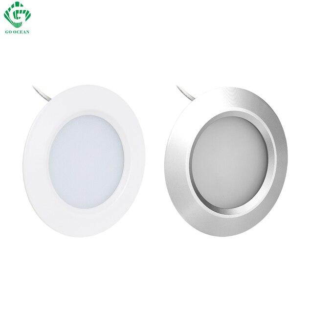 Na mocy światła do szafki krążek światła 12V okrągły aluminium półka szafka kuchenna u nas państwo lampy LED szafy oświetlenie nocne prezentacja lampy licznik