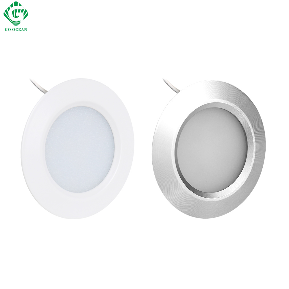 Under Cabinet Lights Puck Light 12V Round Aluminum Shelf Kitchen Closet Lamps LED Closet Lighting Night Showcase Counter Lamp