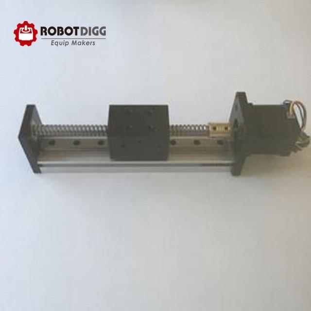 Nema17 ball screw n linear rail linear module 17N1204-100_WL_81