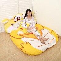 Мультфильм дракон утолщение ленивый кровать матрас двойной татами Персонализированные Мультфильм диван спальный мешок