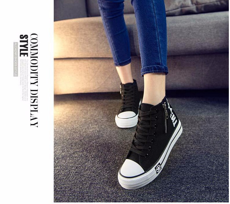 Free Shipping Spring and Autumn Men Canvas Shoes High Quality Fashion Casual Shoes Low Top Brand Single Shoes Thick Sole 7583 -  -  -  -  (3) -  -