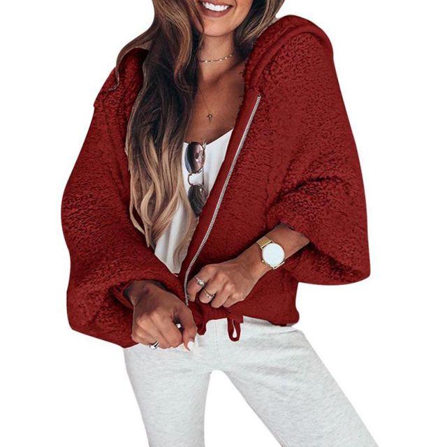 Warm Soft Zipper Fur Jacket Overcoat