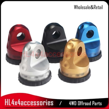 Aluminum Thimble Shackle Winch fairlead connector Shackle Mount Winch Hook connector for Synthetic Rope Winch Quickly Removed largo winch vol 12