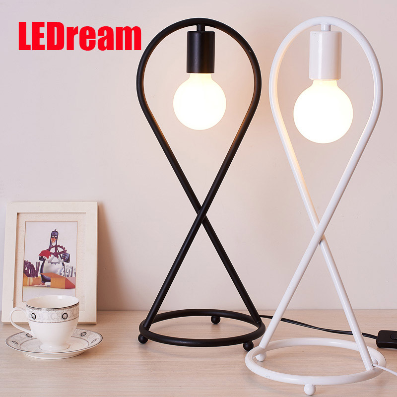 ФОТО Contemporary and contracted fashion creative artistic personality Nordic office LED eye learning real wood desk lamp of bedroom