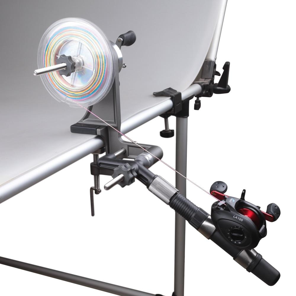 DAIICHISEIKO Portable Fishign Line Winder 3KG Drag Reel Spool Spooler System For Spinning/Baitcasting Fishing Reel Winding Board