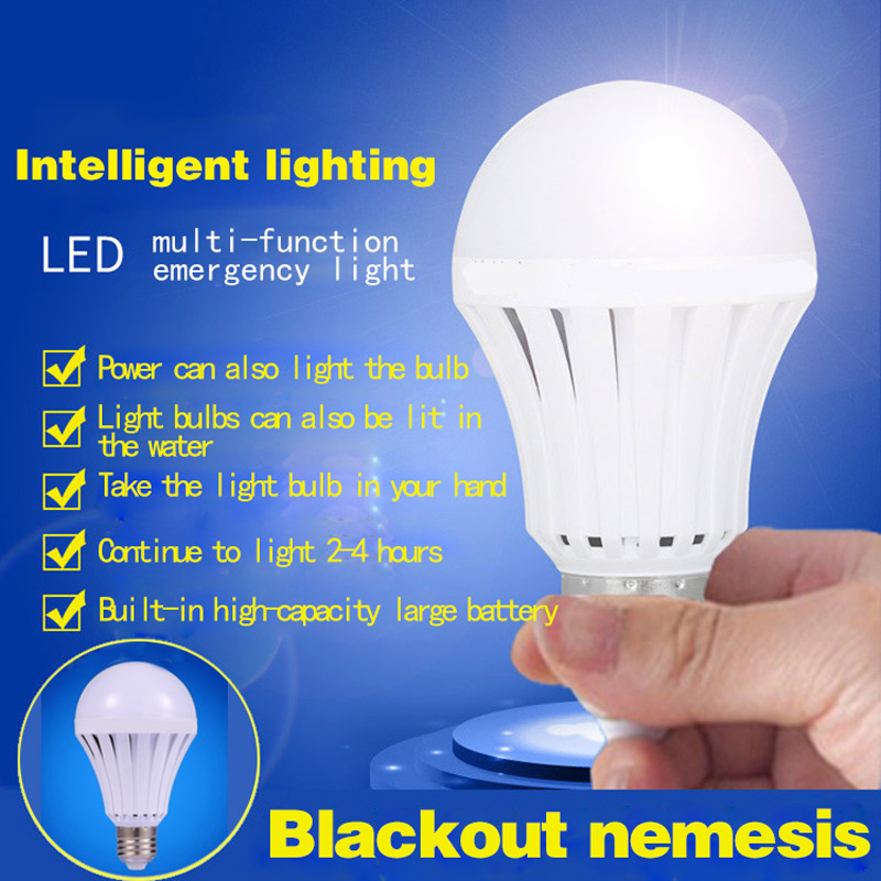 E27 LED Lamps 5W 7W 9W 12W 15W Emergency Light Bulb Rechargeable 220V CLH@8 led emergency light bulb emergency bulb automatic charging 5 7 9 12w rechargeable battery e27 lamp clh
