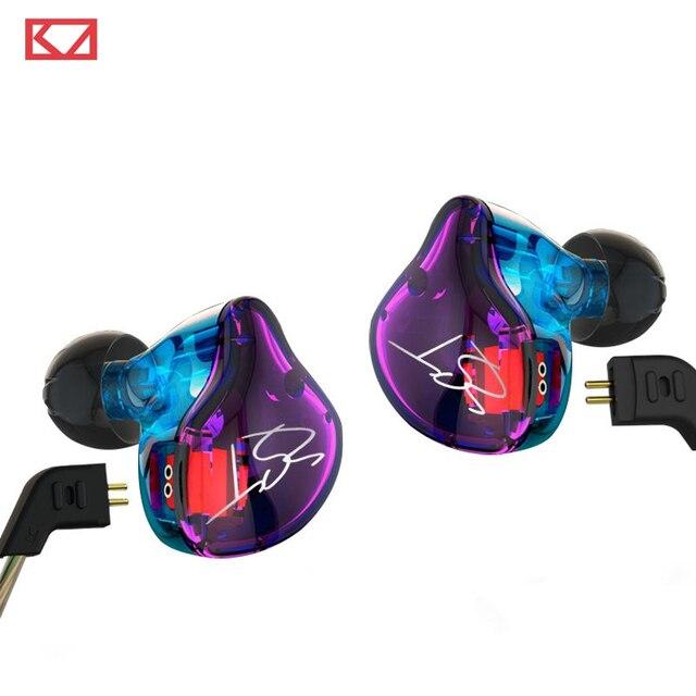 ホットkz zst 1dd + 1baハイブリッドで耳イヤホンハイファイdj monitoランニングスポーツイヤホン耳栓ヘッドセットインナーイヤー型2色送料無料