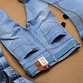 2016 verano Utr delgada jeans nueva moda color sólido de los pantalones vaqueros flacos Pies pantalones casuales Masculinos pantalones masculinos