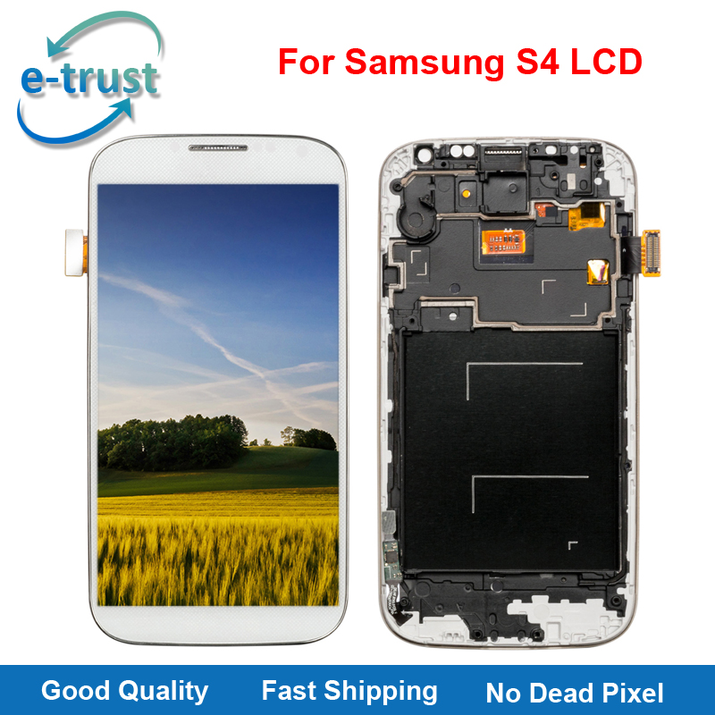 e trust High Quality LCD Display For Samsung Galaxy S4 i9500 i9505 i9515 i337 Phone LCD