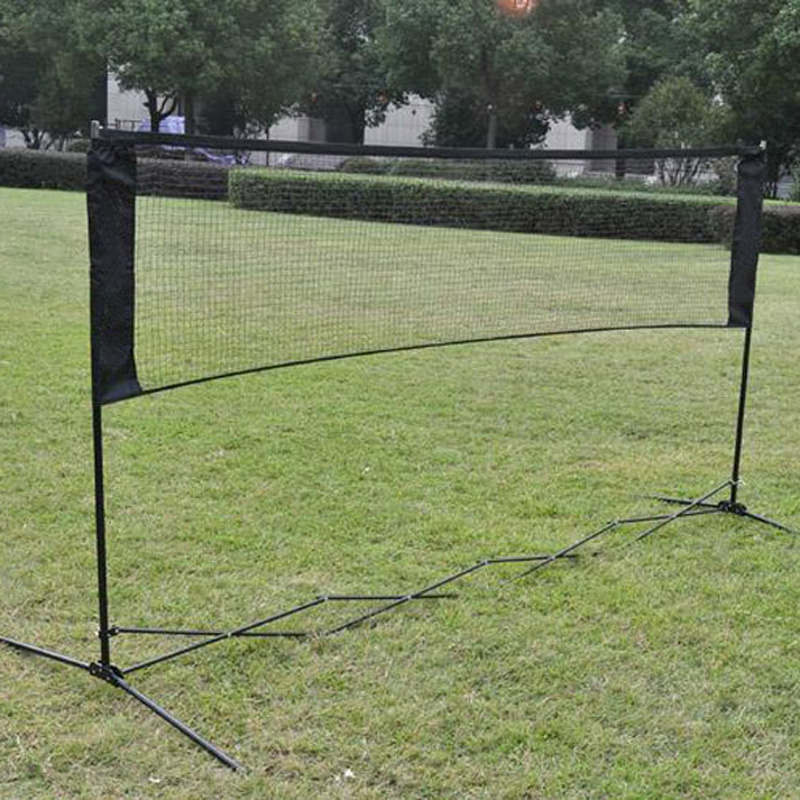 цена на Standard Badminton Net Indoor Outdoor Sports Volleyball Training Portable Quickstart Tennis Badminton Square Net 5.9M*0.79M