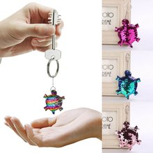 Lovely Keychain Glitter Turtle Sequins Key Chain For Car Bag Pendant  Accessories Women Girls Jewelry Gifts f812e0280c25