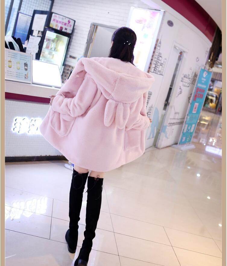 Tempérament 2017 Et Lapin Peluche Nouvelle Veste Femme Coréenne Imitation Mode En D'hiver De Long Manteau Automne Fourrure wCqrnAwZ