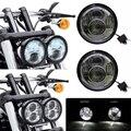"5 ""Doble doble Motocicleta Daymaker Proyector LLEVÓ la Linterna Para Harley-davidson '08-más tarde Bob FXDF Daymaker Faro doble Lámpara"