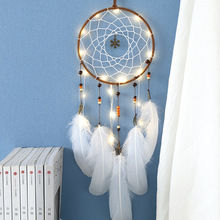Creative  home decoration dream catcher feather lamp pendant wind bell valentines day birthday gift