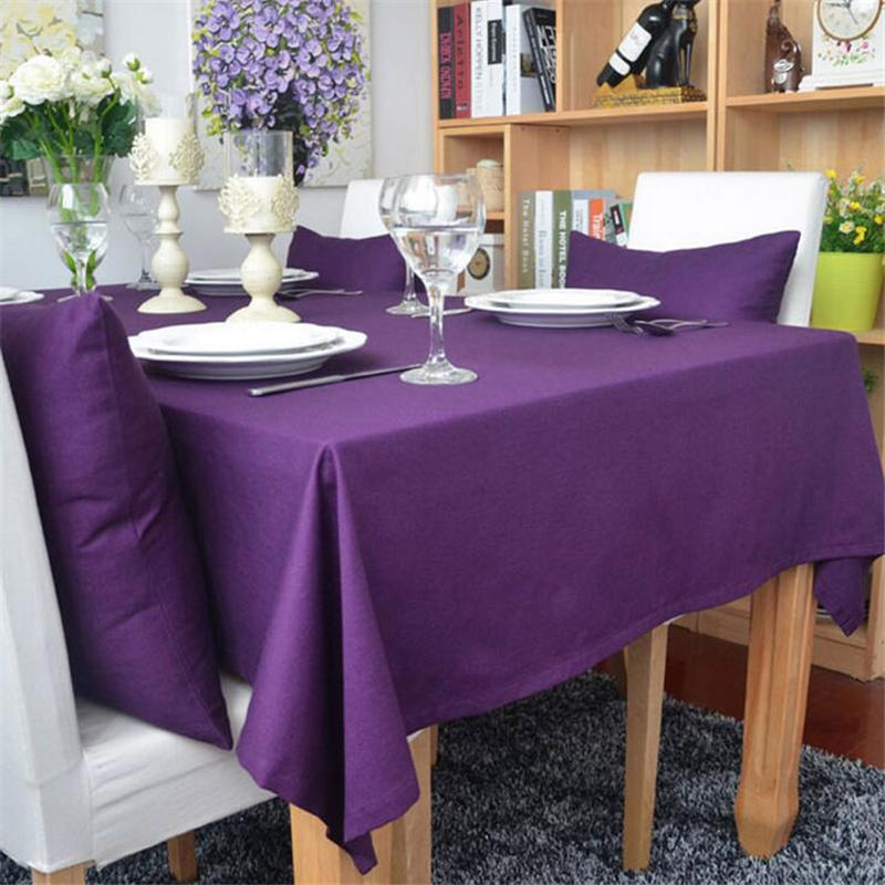 Red Purple Cotton Rectangular Table Cloth European Solid Tablecloth For  Party Weddings Hotel Kitchen Table Cover 60X60cm/90X90cm In Tablecloths  From Home ...
