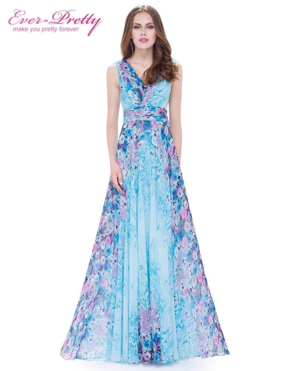 Manufacturer of elegant dresses evening dresses occasional wholesale - Evening Dresses Ever Pretty New Arrival Ep08945 Glamorous V Neck 2017 Formal Print Chiffon Evening