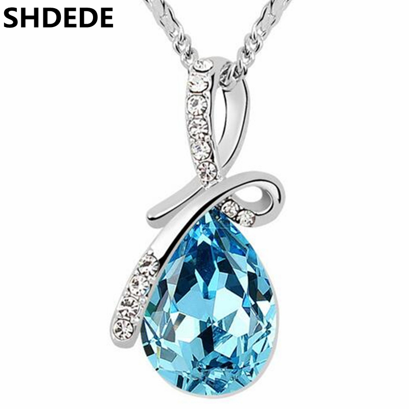 Water Drop Necklace Pendants Crystal from Swarovski Elements