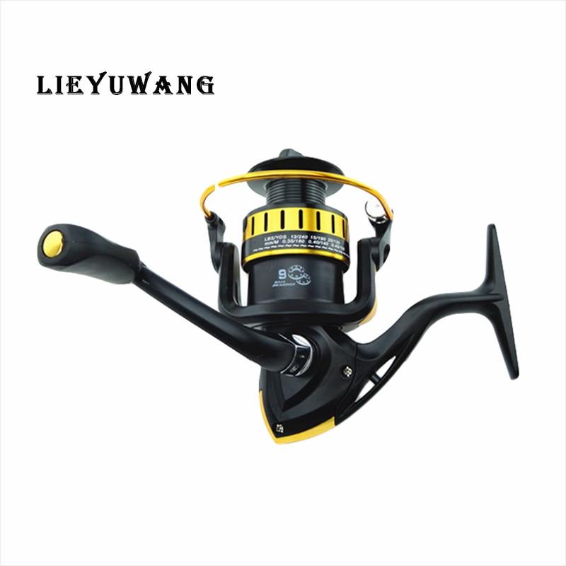 LIEYUWANG High-Speed Spinning Fishing Reel Drag Folding Arm Fishing Wheel DA1000-7000 CNC Machined Fishing Spool