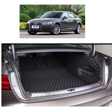 Ajuste personalizado de fibra de couro tapete mala do carro para audi a4 b9 2016 2017 tapete de carga forro de carga