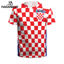 babe8549e NADANBAO Summer Men Women Croatia Football Jerseys Sport Tee Tops 3D  Printing Futebol Soccer Jersey