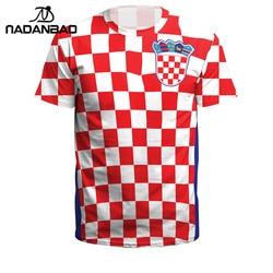 NADANBAO Summer Men/Women Croatia Football Jerseys Sport Tee Tops 3D Printing Futebol Soccer Jersey Fitness Shirt Plus Size