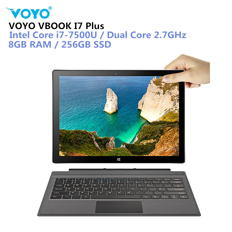 VOYO VBOOK I7 Plus 2 в 1 планшетный ПК 8 ГБ + 256 ГБ 12,6 ''Windows 10 Intel Core I7 7500U 2,7 ГГц Dual WiFi 5MP планшеты PC type C HDMI