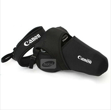 Free shipping + Tracking L Size Camera Soft Bag Case Lens Pouch Cover For Canon EOS Canon 70D 700D 100D 7D /5DIII