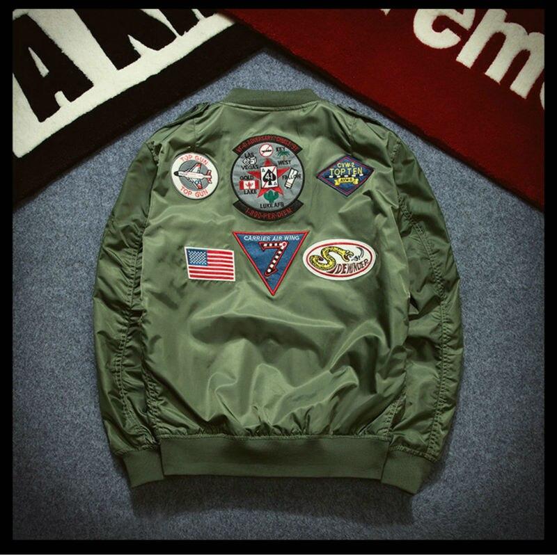 Topdudes.com - Casual Retro Fashion Air Force Flight MA1 Bomber Jacket