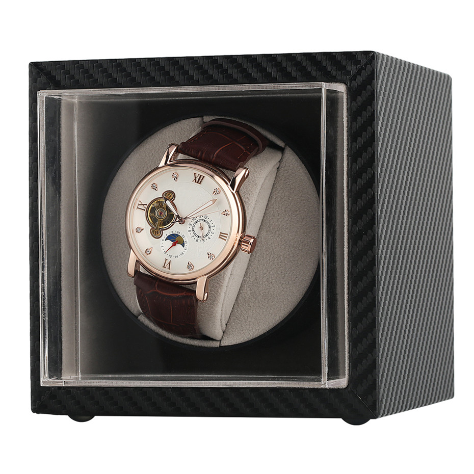 Automatic Watch Winder Motor Shaker Holder Watch Storage Winding Boxes for Mechanical Self Wind Wrist Watches US/UK/AU/EU Plug | Watch Winders